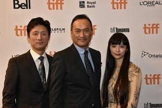 トロント国際映画祭に出席した渡辺謙、宮崎あおい、李相日監督「怒り」