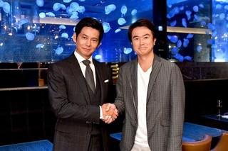 4作目のドラマ共演となる織田裕二&石黒賢