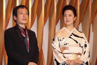 アンバサダー名取裕子(右)と総合プロデューサーの奥山和由「MIFUNE: THE LAST SAMURAI」