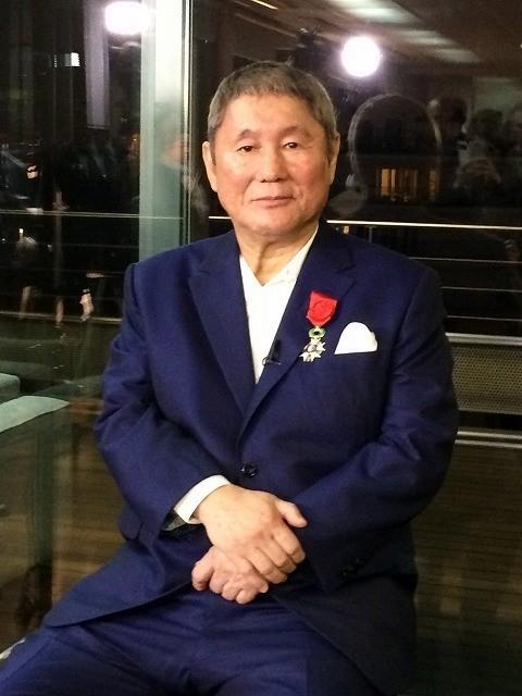 レジョン・ドヌール勲章を受章した北野武