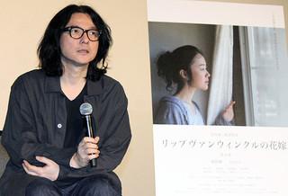 登壇した岩井俊二監督「リップヴァンウィンクルの花嫁」