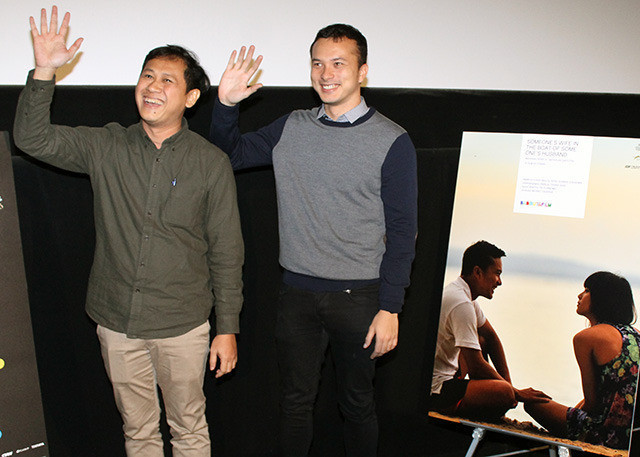 エドウィン監督と主演のニコラス・サプトラ