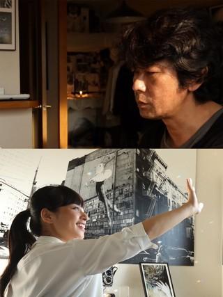 河瀬組に抜てきされた水崎綾女(下)と 主演を務める永瀬正敏「俺たちに明日はないッス」