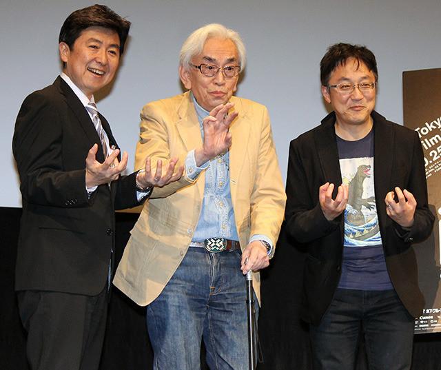 トークショーを盛り上げた 中野昭慶監督ら