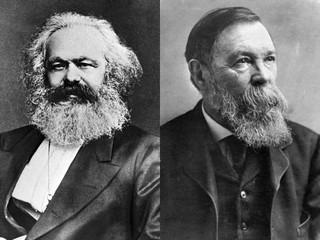 カール・マルクスとフリードリヒ・エンゲルス「アイス・ストーム」