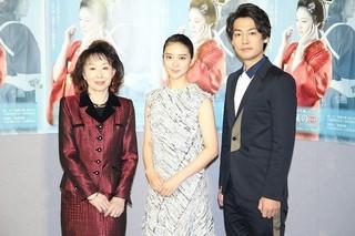 (左から)三田佳子、武井咲、福士誠治