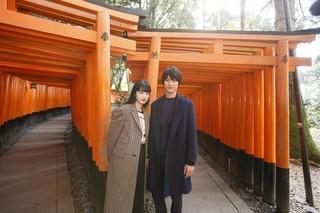 ファン3000人歓喜! 福士蒼汰&小松菜奈、初共演作のロケ地・京都を再訪