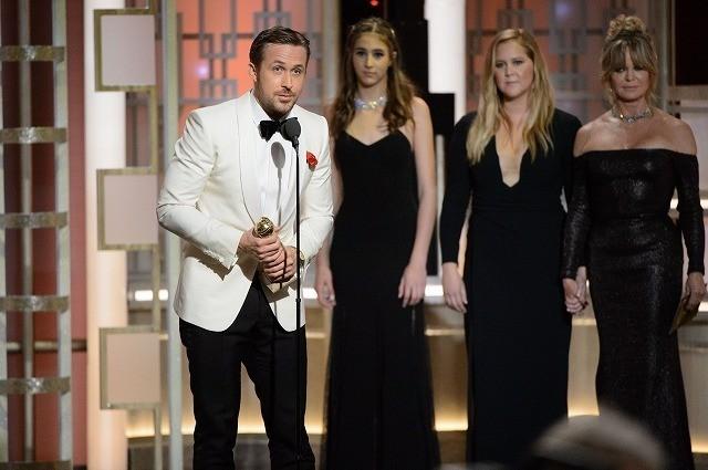コメディ/ミュージカル部門で主演男優賞 を受賞したライアン・ゴズリング