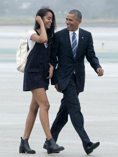 オバマ前アメリカ大統領と長女マリアさん