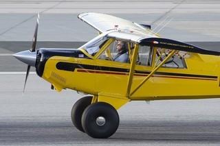 ハリソン・フォード、飛行機の着...
