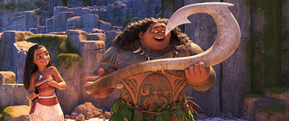 ディズニー「モアナ」歌って踊れる英雄マウイの本編シーン公開 尾上松也が歌声披露