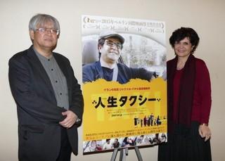 (左から)市山尚三氏、ショーレ・ゴルパリアン氏「人生タクシー」