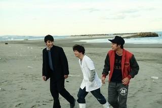 (右から)太賀、矢本悠馬、中村蒼らが共鳴した現場「ポンチョに夜明けの風はらませて」