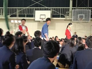 サプライズで登場した(左から) 満島真之介、福士蒼汰、杉咲花「無限の住人」