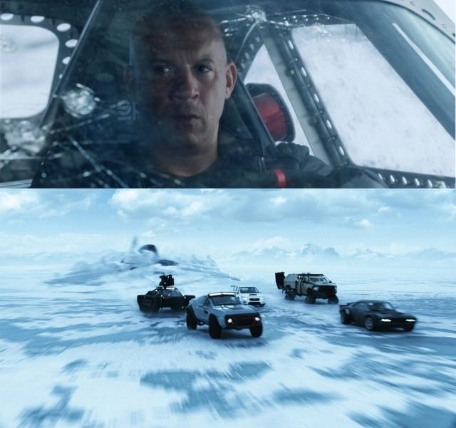 「ワイスピ」氷河チェイス映像公開!車ごと水中に沈んだ仲間をどう助ける?