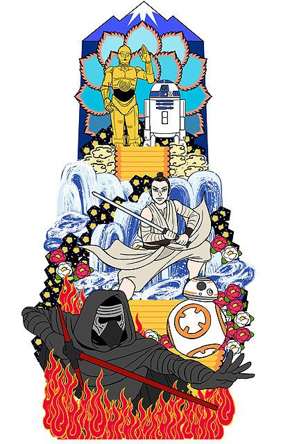 ユネスコ無形文化遺産の博多祇園山笠に「スター・ウォーズ」山笠が登場