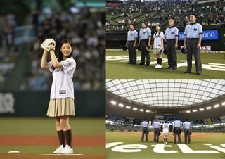 """「心が叫びたがってるんだ。」石井杏奈、19歳の誕生日に""""聖地""""で始球式初挑戦!"""