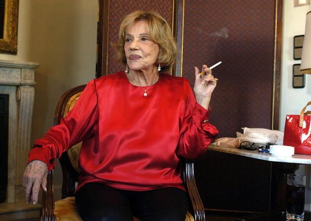 仏映画界のスター、ジャンヌ・モローさん