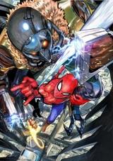 「ワンパンマン」村田雄介がスパイダーマン&アイアンマンを描く!躍動感あふれるイラスト完成