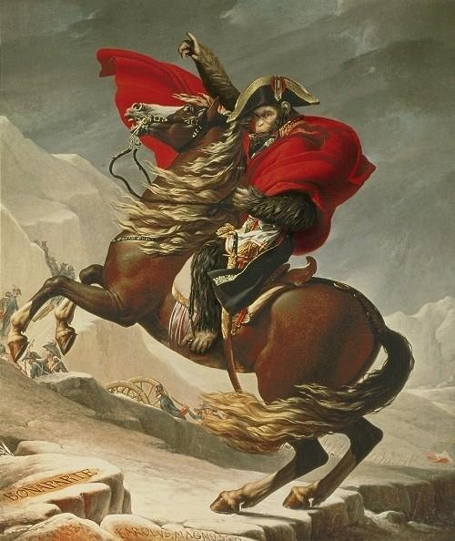 ナポレオンもゴッホもみんな猿化!「猿の惑星」×名画、衝撃画像公開