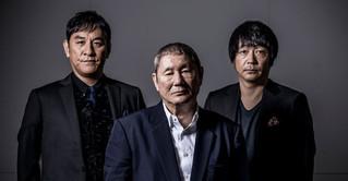 インタビューに応じた北野武監督、 大森南朋、ピエール瀧「アウトレイジ」