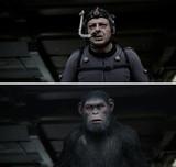 """人間の顔が……気がつくと""""猿""""に!? 「猿の惑星」驚がく""""猿化""""映像公開"""
