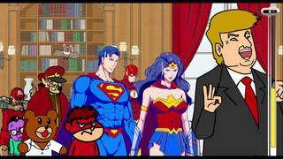 バットマンがまさかの姿に…「DCスーパーヒーローズ vs 鷹の爪団」