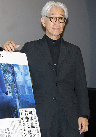 舞台挨拶に立った坂本龍一「Ryuichi Sakamoto: CODA」