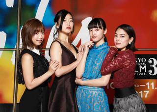 (左から)紗倉まな、佐々木心音、山田愛奈、森口彩乃「最低。」
