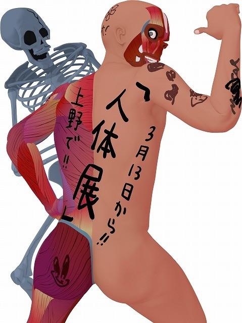 人体模型アニメ「放課後ミッドナイターズ」が特別展「人体 神秘への挑戦」とコラボ