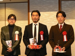 左から山上氏、長谷井監督、石川監督「ブランカとギター弾き」