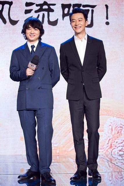 染谷将太、主演「空海」引っさげ訪中!中国語で挨拶し喝さい「ひたすら勉強した」