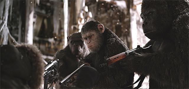 「猿の惑星:聖戦記」の一場面