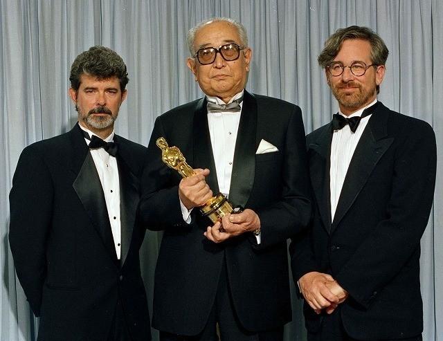 黒澤明監督の名誉賞受賞では ルーカス&スピルバーグがプレゼンターに