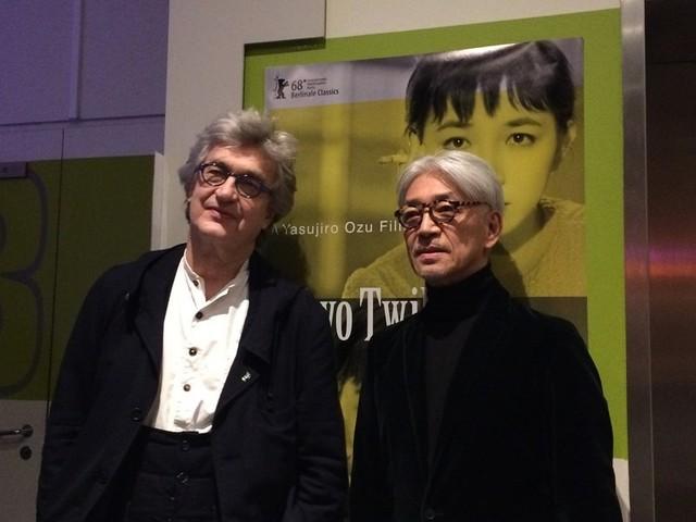 「東京暮色」を紹介した坂本龍一とビム・ベンダース