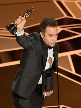 助演男優賞を受賞したサム・ロックウェル「スリー・ビルボード」