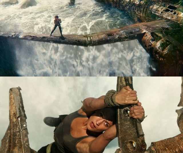 A・ビカンダーが滝つぼ落下!?「トゥームレイダー」迫力満点の本編映像公開