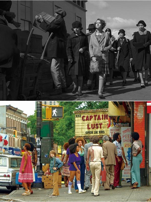 2つの時代のニューヨークを再現