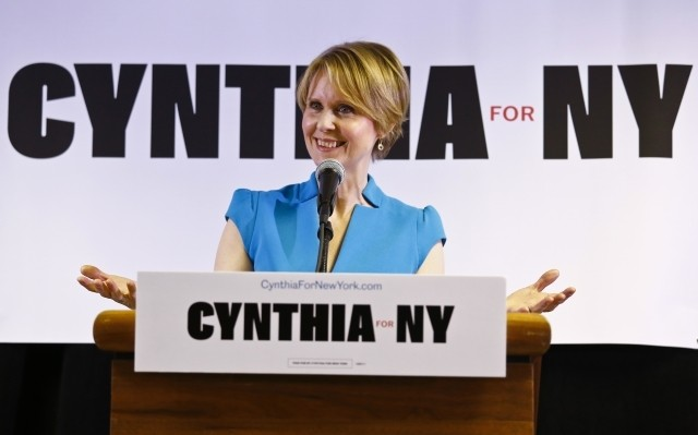 「SATC」女優シンシア・ニクソン、ニューヨーク州知事選に出馬