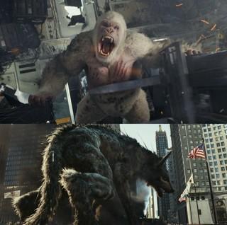 遺伝子実験の失敗で、とんでもない姿に!「ランペイジ 巨獣大乱闘」