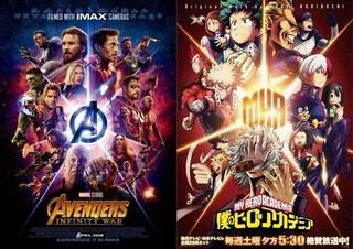 「アベンジャーズ」と「僕のヒーローアカデミア」がコラボ!特別ポスター&映像が公開