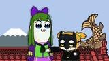 「ニンジャバットマン」×「ポプテピピック」コラボCMでポプ子とピピ美がバットマン&ジョーカーに