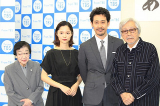 会見した大泉洋、宮崎あおい、山田洋次監督、 石井ふく子氏「男はつらいよ」