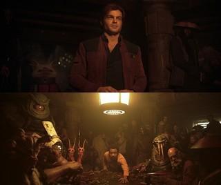 銀河で大人気のゲームで対決する ハン・ソロとランド「ハン・ソロ スター・ウォーズ・ストーリー」