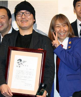 青山剛昌氏、「映画界の沢村賞」に歓喜 コナン・高山みなみも祝福