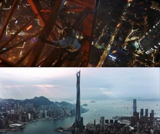 ロック様、今度は高度1000mの超高層ビルに挑む!「スカイスクレイパー」場面写真公開