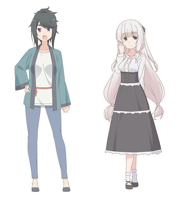 キャストが発表されたキャラクターの 八穂錦(CV:伊藤静)と椎名茉莉 (CV:茅野愛衣)