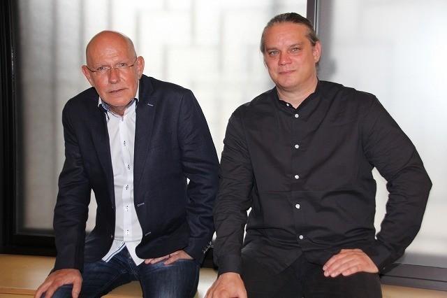 取材に応じたC・クレーネス監督(左)とF・バイゲンザマー監督(右)