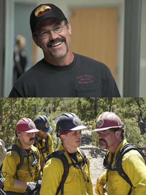 一介の地元消防団をエリート消防隊へと 引き上げた実在の隊長を熱演