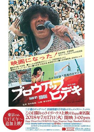 東京会場の追加上映告知の ために作られたビジュアル「ブロウアップ ヒデキ」